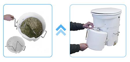 handcrank-urinetank composting toilet