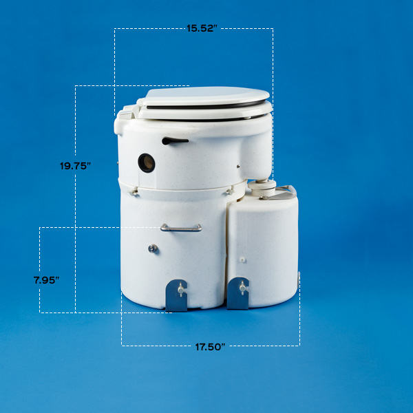 Details & Dimensions - Air Head Composting Toilet | For Boats, RVs & Cabins