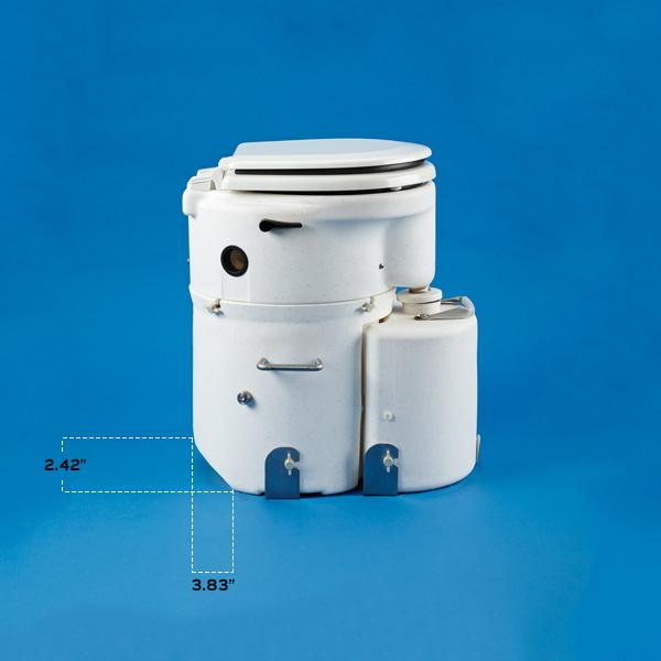 Airhead Toilet: Marine Seat, hull shape