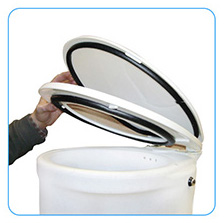 openbowl composting toilet