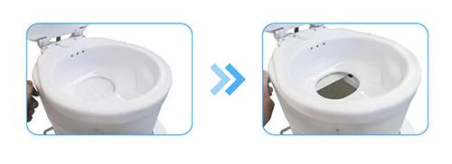toiletbowl composting toilet